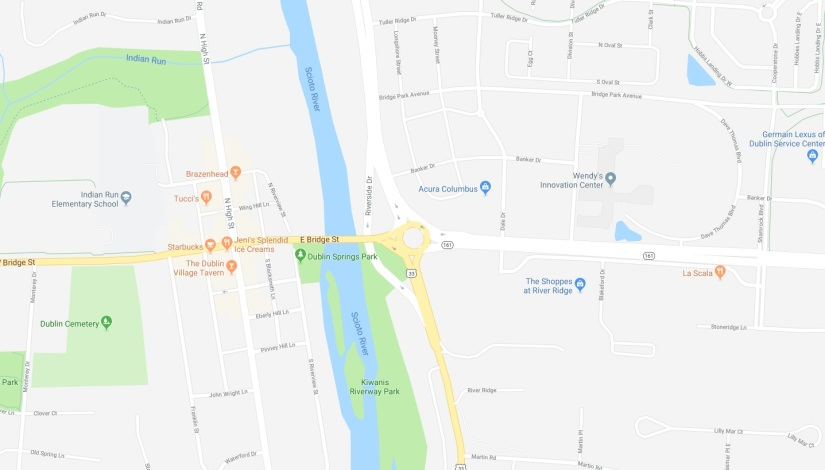 Roundabout at 161 / Riverside Drive completely closed this weekend (Oct 19-22)
