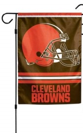 browns garden flag