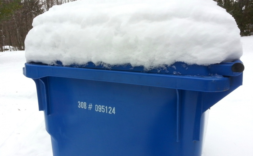 Garbage collection schedule for the holidays